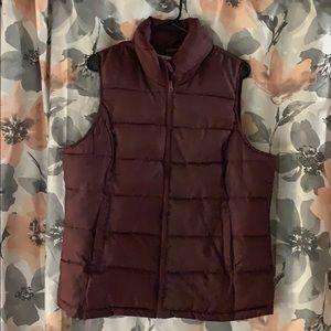 Maroon puffer vest